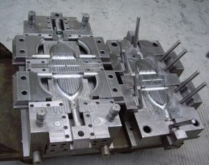 Injection molds this size can weigh several tons.